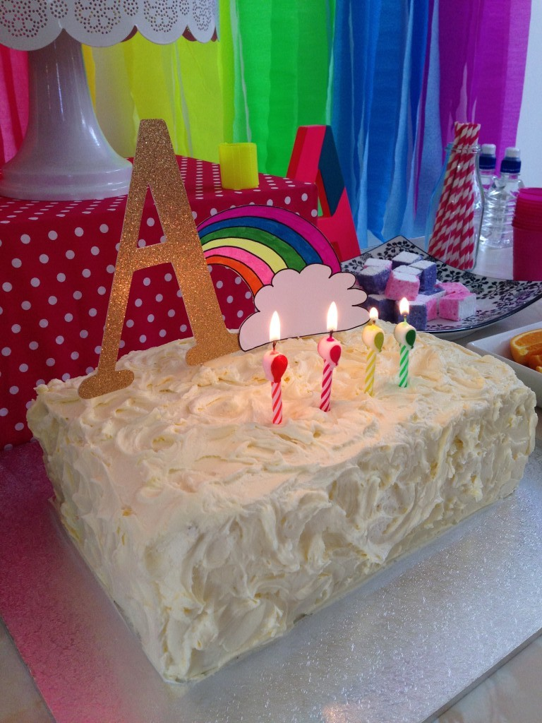 Modern Neon Rainbow Party Kids Party Space