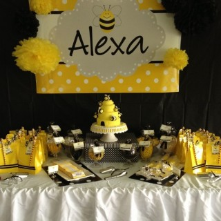 The Candy Buffet Was A Winner Children Were Able To Help Themselves Different Black And Yellow Lollies