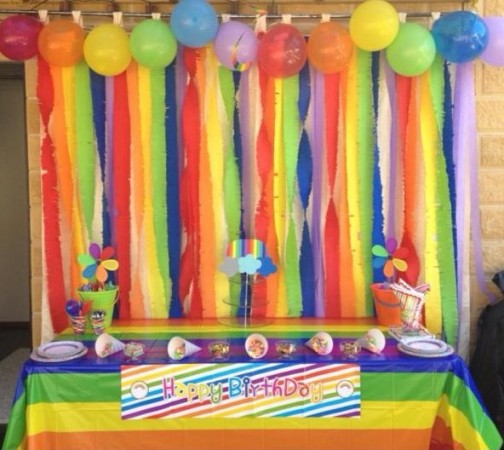 Rainbow Birthday Party - Main Image