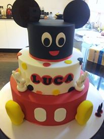 Disney Minnie and Mickey Mouse Party - Cake Image