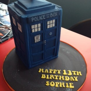 Doctor Who Birthday Party - Cake Image