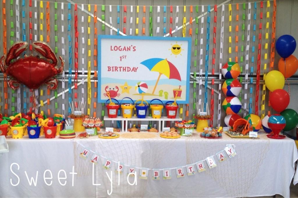 First Birthday Beach Party