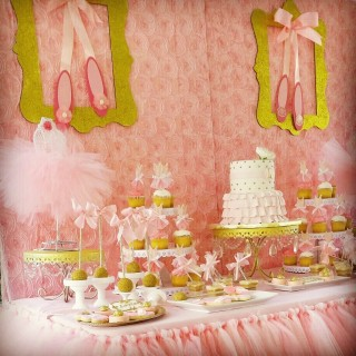 Pink & gold ballet inspired baby shower - Main Image