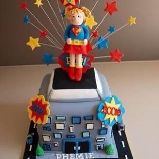 Superhero Birthday Party - Cake Image