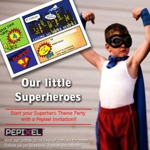 Superhero Birthday Party - Supplies Image