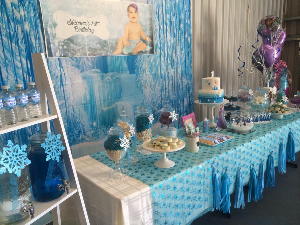 Frozen First Birthday Kids Party Space
